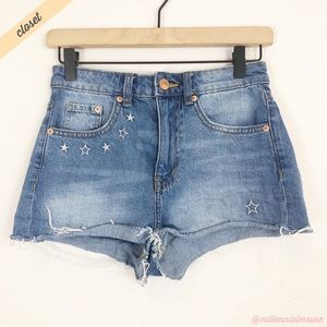 [H&M x Coachella] Cut Off High Rise Denim Shorts